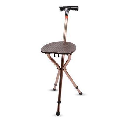 Picture of 带灯MP3折叠凳椅拐杖
